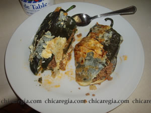 Mi intento de chiles rellenos