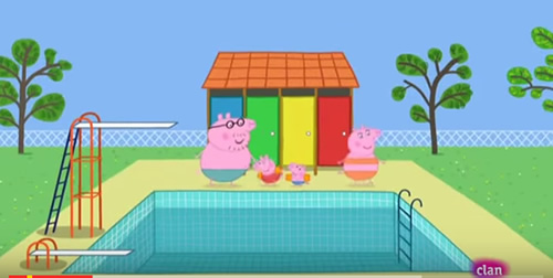 5 errores de la caricatura peppa pig chica regia for Piscina de peppa pig