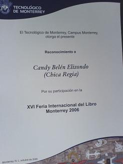 Reconocimiento FIL 2006