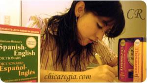 CR estudiando inglés