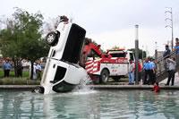 Cae camioneta en Santa Lucia