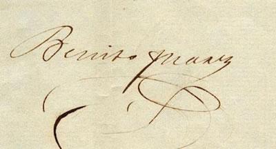Firma de Benito Juarez