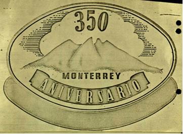 Logotipo del 350 Aniversario de la Fundación de Monterrey