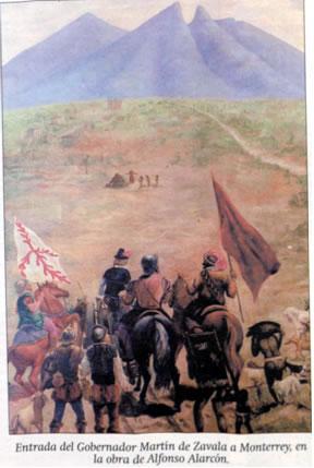 Martín de Zavala entrando a Monterrey