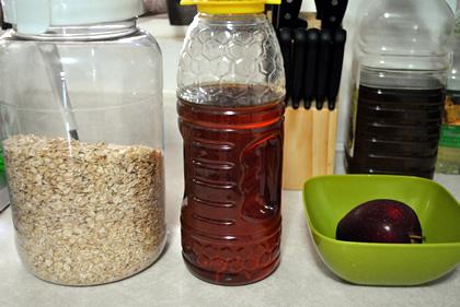 Licuado de avena, manzana y miel