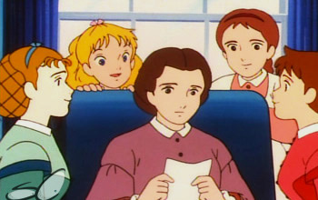 mujercitas anime caricatura