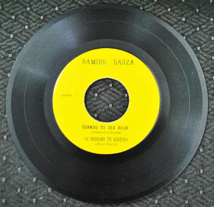 Ramiro Garza baladista Monterrey Mexico 45 rpm lado a