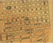 Plano que detalla la ubicación de la Plaza de la Muralla en el año de 1901