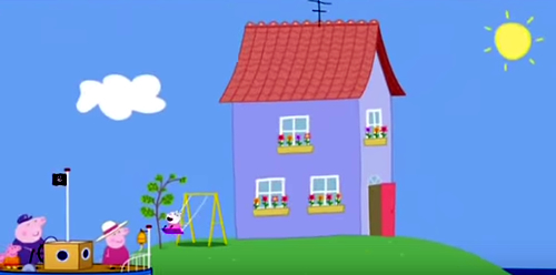 casa susy sheep oveja house peppa pig cerdita