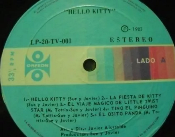 amigos de hello kitty y coros orfeon LP 1982